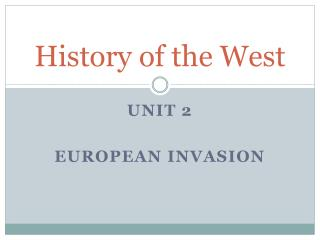History of the West