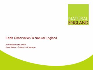 Earth Observation in Natural England