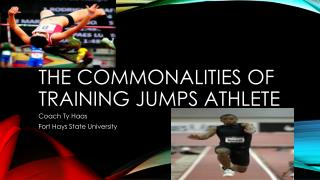 The Commonalities of training jumps athlete