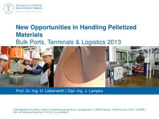 New  Opportunities  in Handling  Pelletized  Materials Bulk  Ports, Terminals &  Logistics  2013