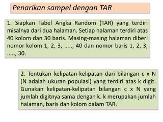 Penarikan sampel dengan  TAR