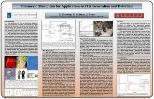 Polymeric Thin Films for Application in THz Generation and Detection