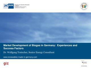 Market Development of  Biogas  in Germany:  Experiences  and Success Factors