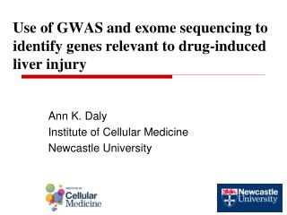 Use of GWAS and exome sequencing to identify genes relevant to drug-induced liver injury
