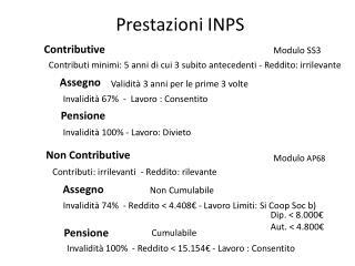 Prestazioni INPS