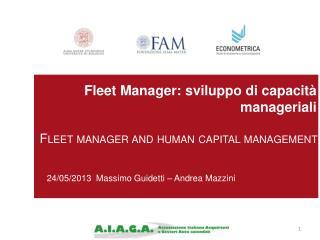 Fleet  Manager: sviluppo di capacità manageriali