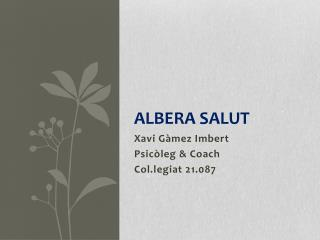 ALBERA SALUT
