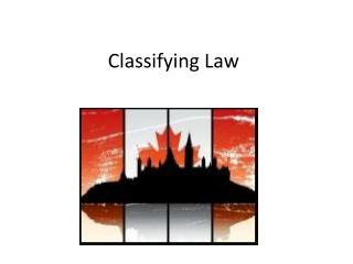 Classifying Law