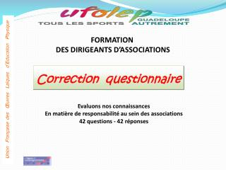 FORMATION  DES DIRIGEANTS D�ASSOCIATIONS