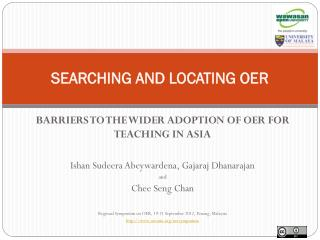 SEARCHING AND LOCATING OER