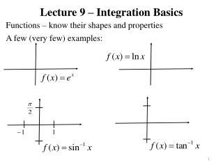 Lecture 9 – Integration Basics