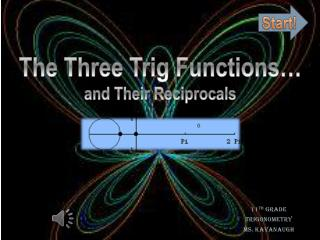 The Three Trig Functions… and Their  R eciprocals