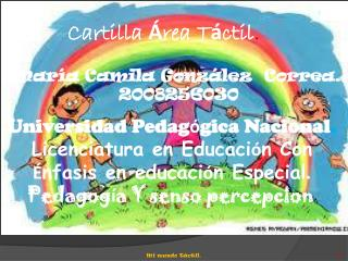 Cartilla  � rea T � ctil .
