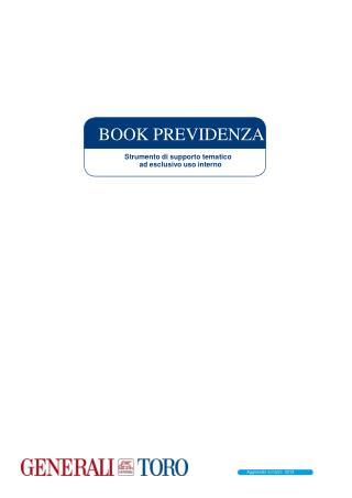 BOOK PREVIDENZA Strumento di supporto tematico ad esclusivo uso interno