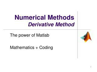 Numerical Methods Derivative Method