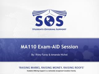 MA110 Exam-AID Session