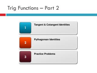 Trig Functions –  Part  2