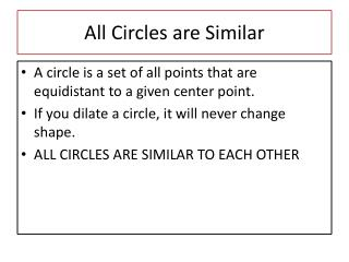 All Circles are Similar