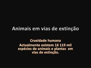 Animais em vias de extin��o