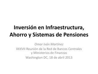 Inversión en Infraestructura, Ahorro y Sistemas de Pensiones