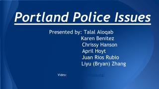 Portland Police Issues