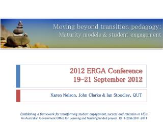 2012 ERGA Conference 19-21 September 2012