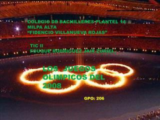 "COLEGIO DE BACHILLERES PLANTEL 14 MILPA ALTA  ""FIDENCIO VILLANUEVA ROJAS"""