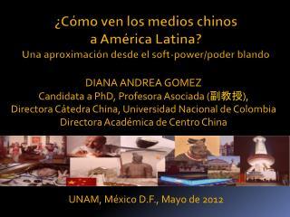 UNAM, M�xico D.F., Mayo de 2012