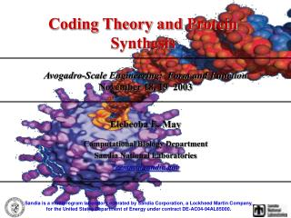 Coding Theory and Protein Synthesis