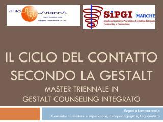 IL CICLO DEL CONTATTO SECONDO LA GESTALT Master Triennale in  GestalT Counseling  Integrato