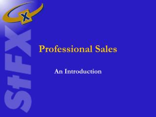Professional Sales