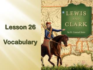Lesson 26 Vocabulary