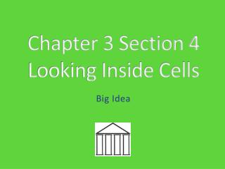 Chapter 3 Section 4 Looking Inside Cells