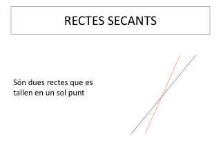 RECTES SECANTS