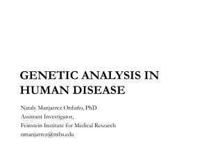 Genetic analysis in human disease
