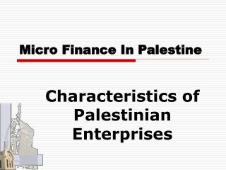 Micro Finance In Palestine