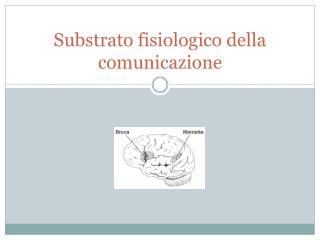 Substrato fisiologico della comunicazione
