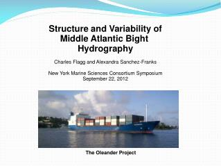 Structure and Variability of Middle Atlantic Bight  Hydrography