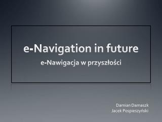 e -Navigation in future