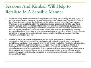 Sessions And Kimball Will Help to Retaliate In A Sensible Ma