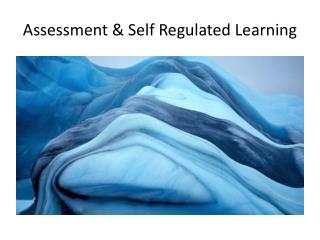 Assessment &  Self Regulated Learning