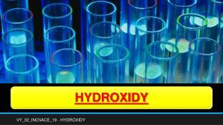 VY_32_INOVACE_19 - HYDROXIDY