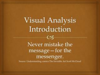 Visual Analysis Introduction