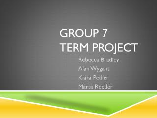 Group 7 term project