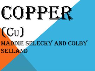 COPPER (C u ) Maddie Selecky  and Colby  Selland