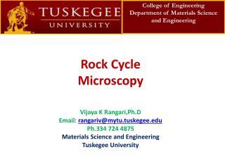Rock Cycle Microscopy