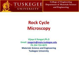 Rock Cycle Microscopy
