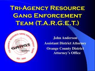 Tri-Agency Resource Gang Enforcement Team T.A.R.G.E.T.