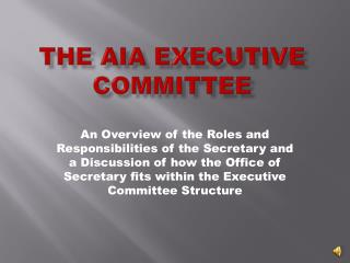 The AIA Executive Committee