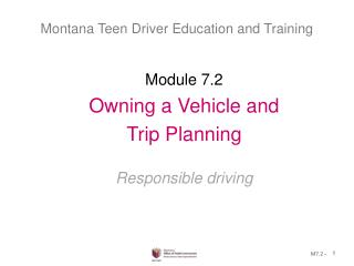 Montana Teen Driver Education and Training